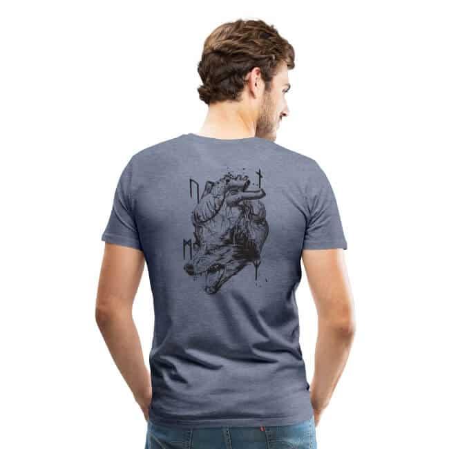 Viking Sons T-Shirt mit dem Wolf in unserem Herzen - nordische Mythologie