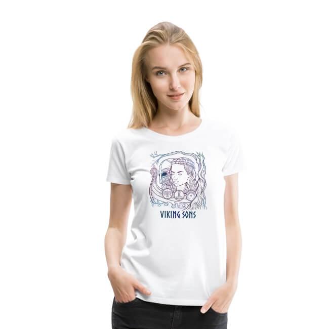 T-Shirt für Damen zum Thema Balder und Nanna - nordische Mythologie