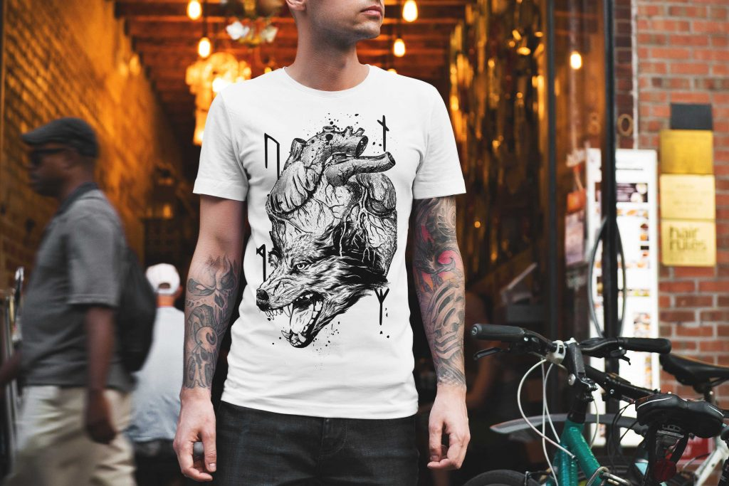 Unser T-Shirt zum Thema - A Wolf in my heart - schwarz