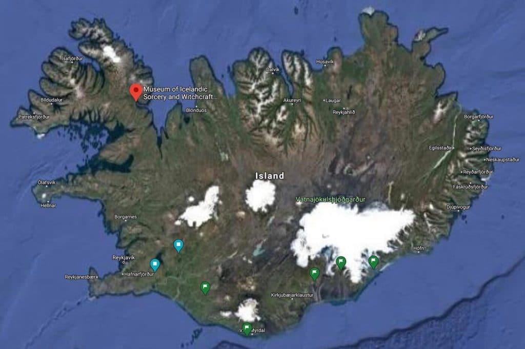 Google Maps Hexerei Holmavik