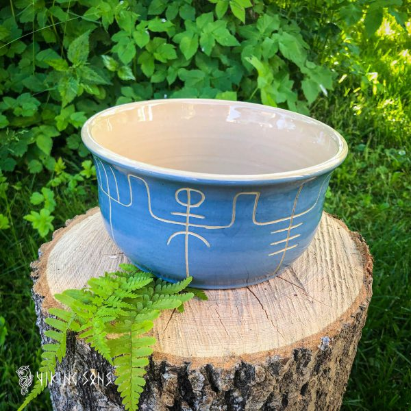 Keramikgeschirr Galdrastafir - Schale - Meeres-Blau