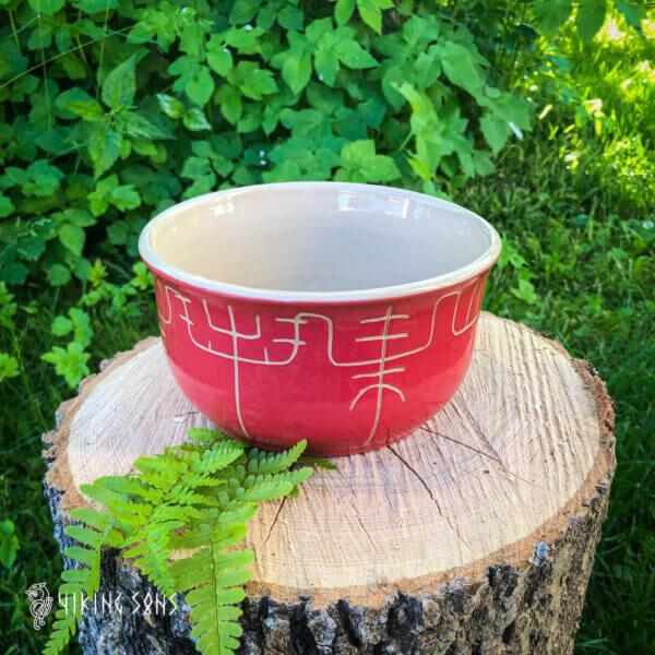 Keramikgeschirr Galdrastafir - Schale - Lava Rot